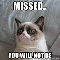 Grumpy cat good - Missed.. You will not be
