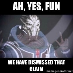 Ah, Yes, Reapers - Ah, Yes, FUN we have dismissed that claim