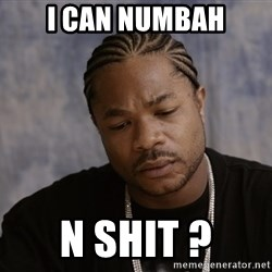 Sad Xzibit - i can numbah n shit ?