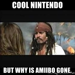 But why is the rum gone - cool nintendo but why is amiibo gone.