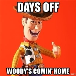 Perv Woody - days off woody's comin' home