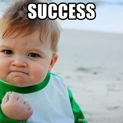fist pump baby - Success