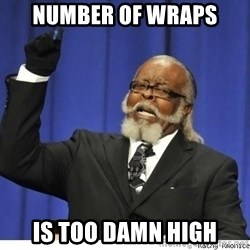 The tolerance is to damn high! - number of wraps is too damn high