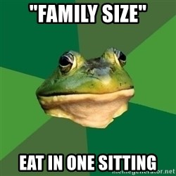 """Foul Bachelor Frog - """"family size"""" eat in one sitting"""