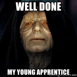 Star Wars Emperor - Well done my young apprentice