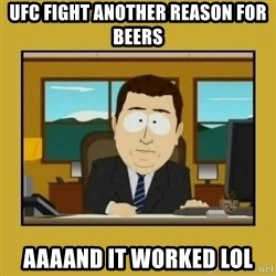 aaand its gone - ufc fight another reason for beers aaaand it worked lol