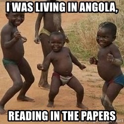 Dancing African Kid - i was living in angola, reading in the papers
