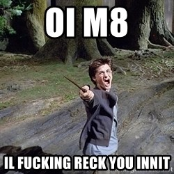 Pissed off Harry - oi m8 il fucking reck you innit