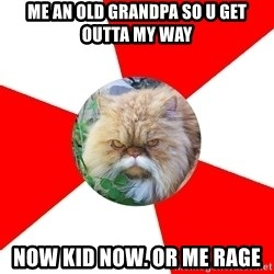 Diabetic Cat - me an old grandpa so u get outta my way now kid now. or me rage