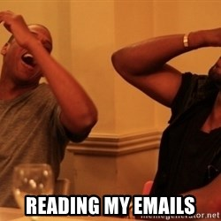 kanye west jay z laughing -  Reading my emails