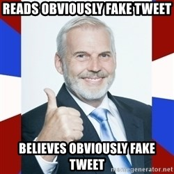 Idiot Anti-Communist Guy - reads obviously fake tweet believes obviously fake tweet
