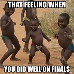 Dancing African Kid - That feeling when  you did well on finals
