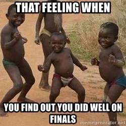 Dancing African Kid - that feeling when you find out you did well on finals