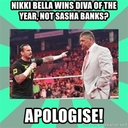 CM Punk Apologize! - NIKKI BELLA WINS DIVA OF THE YEAR, NOT SASHA BANKS? APOLOGISE!