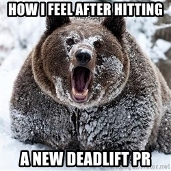 Clean Cocaine Bear - how i feel after hitting a new deadlift pr