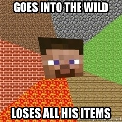 Minecraft Steve - Goes into the wild loses all his items