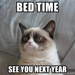 Grumpy cat good - bed time see you next year