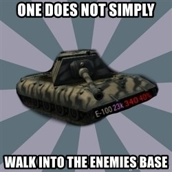 TERRIBLE E-100 DRIVER - one does not simply walk into the enemies base