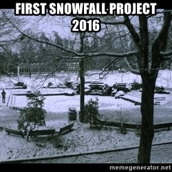 UVIC SNOWDAY - First Snowfall Project 2016