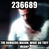 Mason the numbers???? - 236689 The numbers mason, what do they mean?