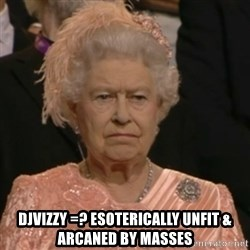 Unhappy Queen -  DJVIZZY =? ESOTERICALLY UNFIT & ARCANED BY MASSES
