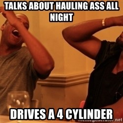 Jay-Z & Kanye Laughing - talks about hauling ass all night drives a 4 cylinder