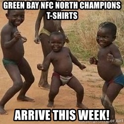 Dancing African Kid - Green Bay NFC North Champions T-shirts Arrive this week!