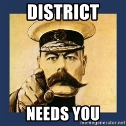 your country needs you - District needs you