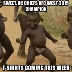 Little Black Kid - Sweet, kc chiefs afc west 2015 champion t-shirts coming this week