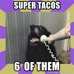 Yes, this is dog! - super tacos 6  of them