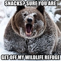 Clean Cocaine Bear - Snacks? sure you are Get off my Wildlife Refuge