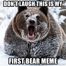 Clean Cocaine Bear - Don't laugh this is my first bear meme