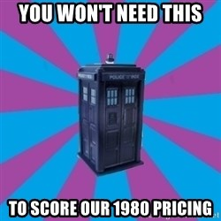 TARDIS Doctor Who - you won't need this to score our 1980 pricing