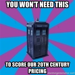 TARDIS Doctor Who - you won't need this to score our 20th century pricing