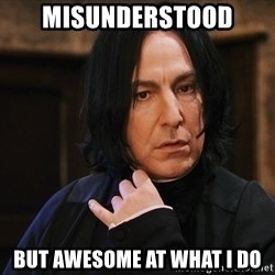 Professor Snape - Misunderstood  But awesome at what I do