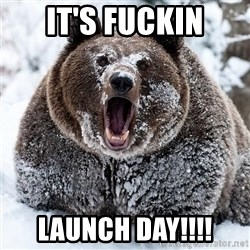Clean Cocaine Bear - it's fuckin launch day!!!!