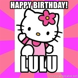 Hello Kitty - Happy Birthday! Lulu