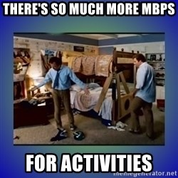 There's so much more room - THERE'S SO MUCH MORE MBPS FOR ACTIVITIES