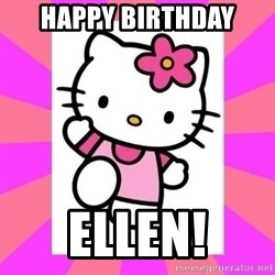 Hello Kitty - Happy Birthday Ellen!