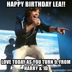 Heartless Harry - Happy Birthday Lea!! Love today as you turn 9, from Harry & 1D