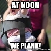 little girl swing - AT NOON WE PLANK!