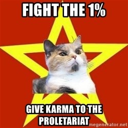 Lenin Cat Red - Fight the 1% Give karma to the proletariat