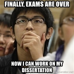 Asian College Freshman - Finally, exams are over Now I can work on my dissertation