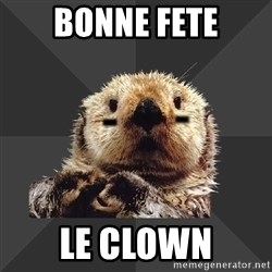 Roller Derby Otter - bonne fete le clown