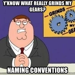Grinds My Gears Peter Griffin - y'know what really grinds my gears? naming conventions