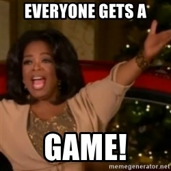 The Giving Oprah - Everyone gets a GAME!