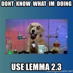 Chemistry Dog - dont  know  what  im  doing use lemma 2.3