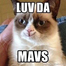 Happy Grumpy Cat 2 - Luv Da Mavs