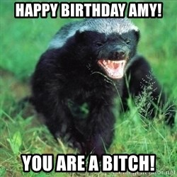 Honey Badger Actual - Happy Birthday Amy! You are a bitch!