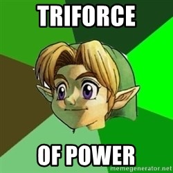 Link - triforce of power